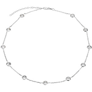 66811 / Sterling Silver / 16 INCH WITH 2