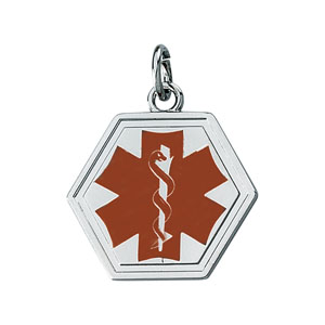 1261 / Sterling Silver / 21.00 MM / Semi-Polished / MEDICAL ID PENDANT
