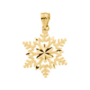 21752 / 14K Yellow / 21.50X17.50 MM / Polished / SNOWFLAKE PENDANT