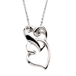 R41708 / Sterling Silver / PENDANT / Polished / FRIENDSHIP PENDANT WITH STER CHAIN