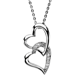 R45135 / Sterling Silver / 25.23X12.97 MM / Polished / SISTER BY HEART PENDANT
