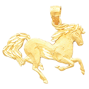 21575 / 14K Yellow / 19.00X26.00 MM / Polished / HORSE PENDANT