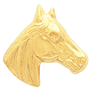 8210 / 14K Yellow / 23.00X23.00 MM / Polished / HORSE HEAD PENDANT