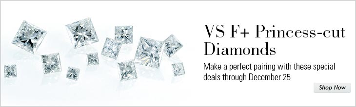 VS F+ Princess-cut Diamonds